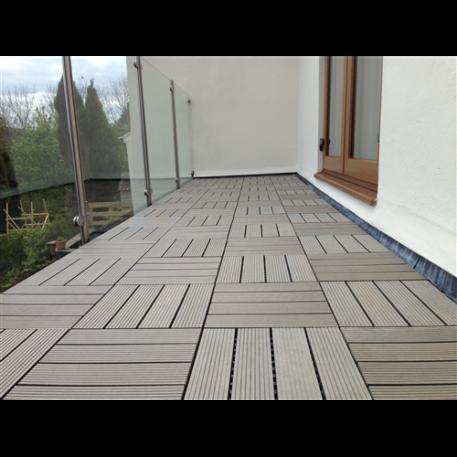 interlocking decking tile chocolate